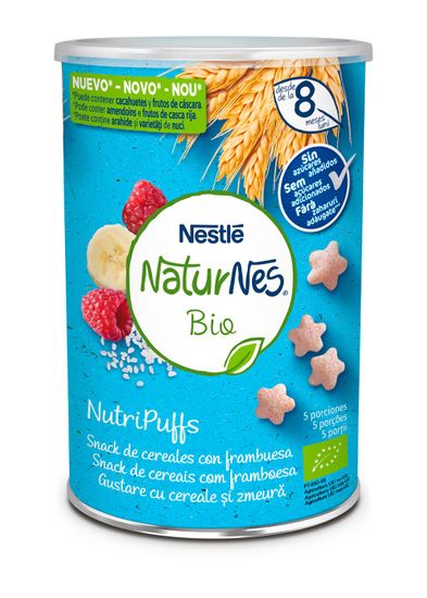 Nestlé NATURNES BIO NutriPuffs Malina 5x 35 g