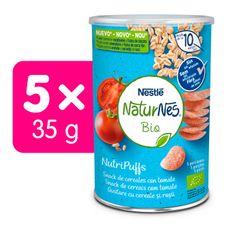 Nestlé NATURNES BIO NutriPuffs Rajče 5x 35 g