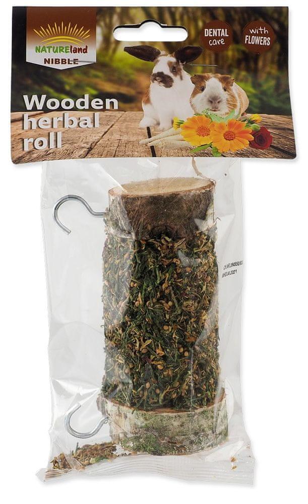 NATURE LAND Pochoutka Nibble válec s bylinkami 2x120 g