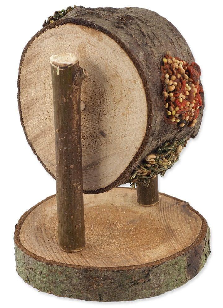 NATURE LAND Pochoutka Nibble kolo dřevěné plněné mrkví, petrželí a prosem 2x200 g