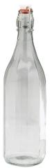 Fľaša 1L so sponovým uzáverom, 6 ks