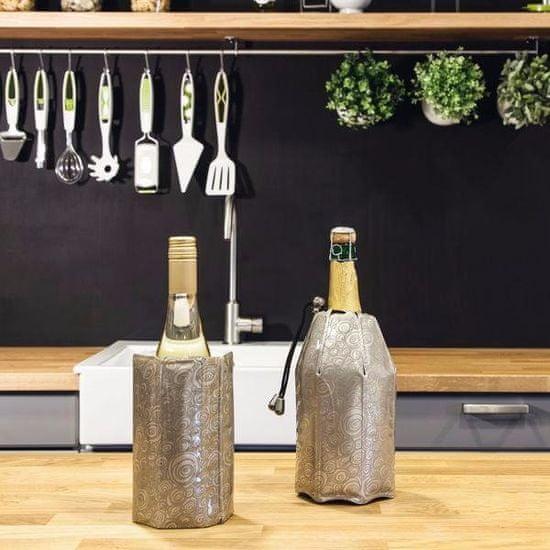 VACUVIN Chladiaci obal na sekt - šampanské Aktiv, strieborný