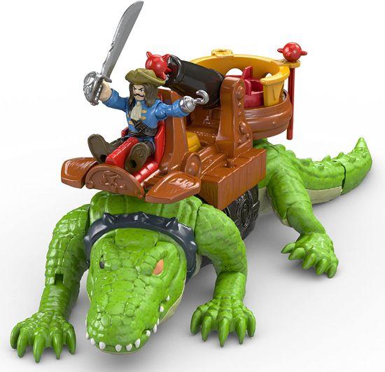 Fisher-Price krokodyl i Kapitan Hak Imaginext