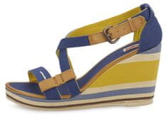 Levi's Dámské letní sandály Levi's na klínku, modrá, 37
