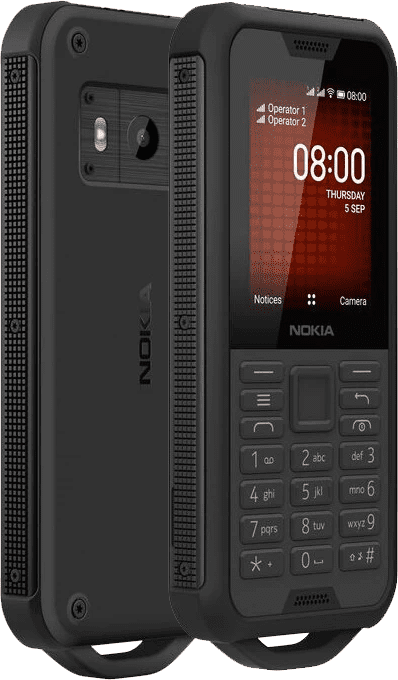 Nokia 800 Tough, Black Steel