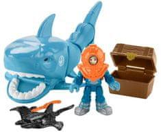 Fisher-Price Imaginext morski pes z dodatki Rejnok
