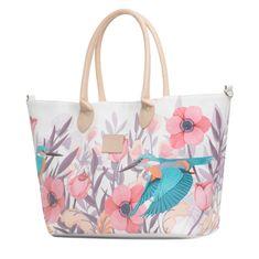 KinderKraft materinska torba Mommy Bag, bela