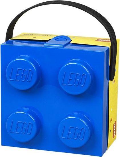 LEGO škatla z modrim ročajem - Odprta embalaža