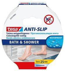"""Tesa Protiskluzová páska do koupelny """"Anti-Slip 55533"""", transparentní, 25 mm x 5m"""