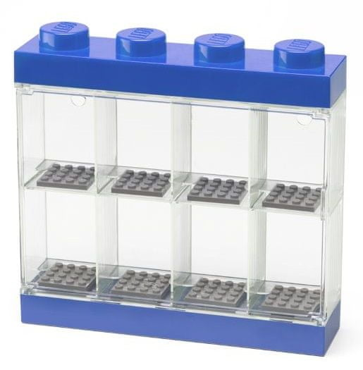 LEGO zbirna škatla za 8 mini figur, modra