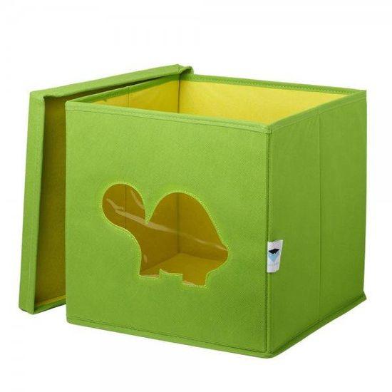 Love It Store It Úložný box na hračky s krytom a okienkom - korytnačka