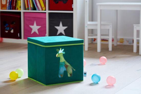 Love It Store It Úložný box na hračky s krytom a okienkom - žirafa