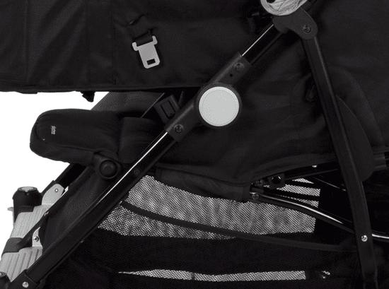 Casualplay Playxtrem Sportovní kočárek pro dvojčata Baby Twinn - Irongate (Black)