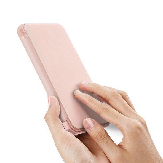 Dux Ducis Skin X usnjeni flip ovitek za Samsung Galaxy S20, roza