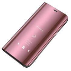 MG Smart Clear View usnjeni ovitek za Xiaomi Mi 10T 5G / Mi 10T Pro 5G, roza