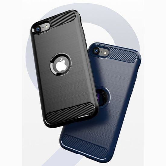 MG Carbon Case Flexible szilikon tok iPhone SE 2020, fekete