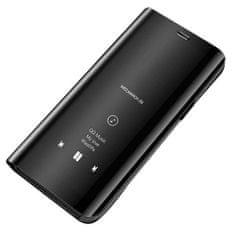 MG Clear View usnjeni ovitek za Xiaomi Mi 10 Lite, črna