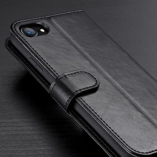 Dux Ducis Kado könyv bőrtok iPhone 7/8/SE 2020, fekete