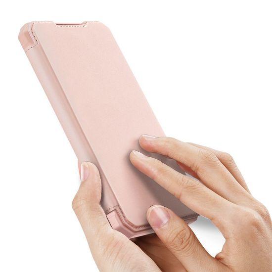 Dux Ducis Skin X bőr könyvtok Samsung Galaxy S10 Lite, rózsaszín