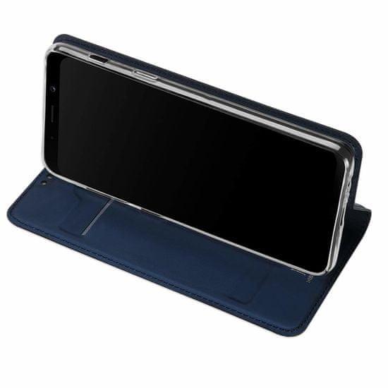 Dux Ducis Skin Pro usnjeni flip ovitek za iPhone 7/8/SE 2020, modra