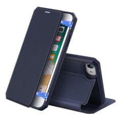 Dux Ducis Skin X usnjeni flip ovitek za iPhone 7/8/SE 2020, modra