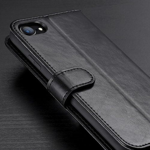 Dux Ducis Kado usnjeni flip ovitek za iPhone 7/8/SE 2020, modra
