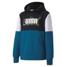 Puma Alpha Hoodie FL B fantovski pulover, moder, 104