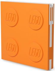 LEGO zapisnik z gel pisalom v obliki sponke, oranžen