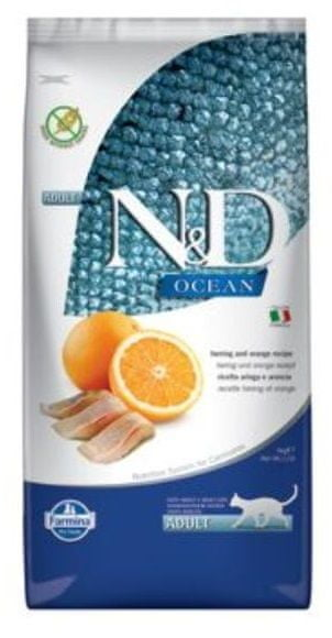 N&D OCEAN CAT Adult Herring & Orange 10 kg