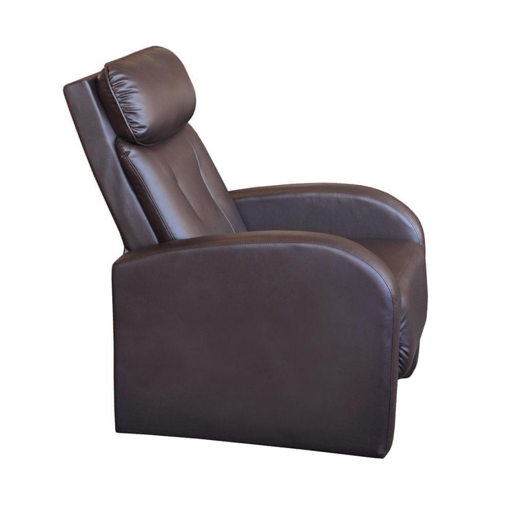 IDEA nábytek Křeslo TOLEDO hnědé K73
