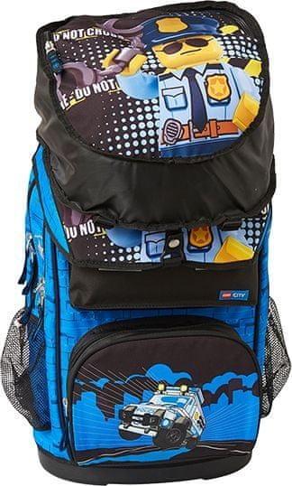 LEGO City Police Cop Maxi šolska torba, 2 delni komplet