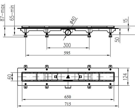 Liv 650 M ENERGY kanaleta za tuš (674755)