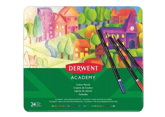 "DERWENT Sada pastelek ""Academy"", 24 různých barev"