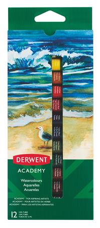 "DERWENT Temperové barvy ""Academy"", 12 ks, 12 ml"