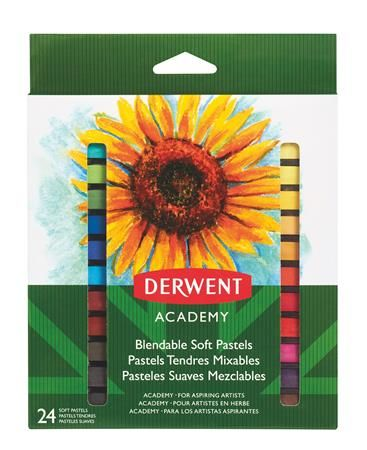 """DERWENT Pastelové křídy """"Academy"""", 24 různých barev"""