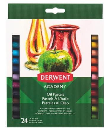 """DERWENT Olejové křídy """"Academy"""", 24 různých barev"""