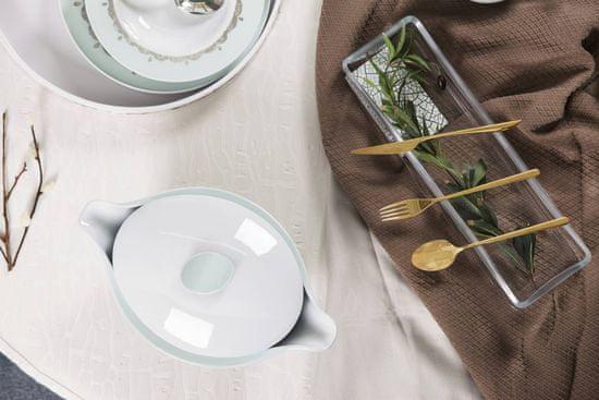 Green Apple Lonec za kavo ali čaj BALLET HEART BLUE, vsebina 100 cl, velikost 13 x 15 cm