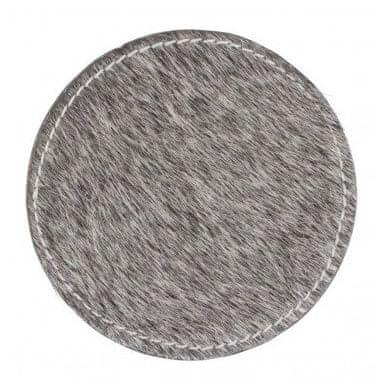 Mars & More Sada kožených podtáciek so stojanom, šedá