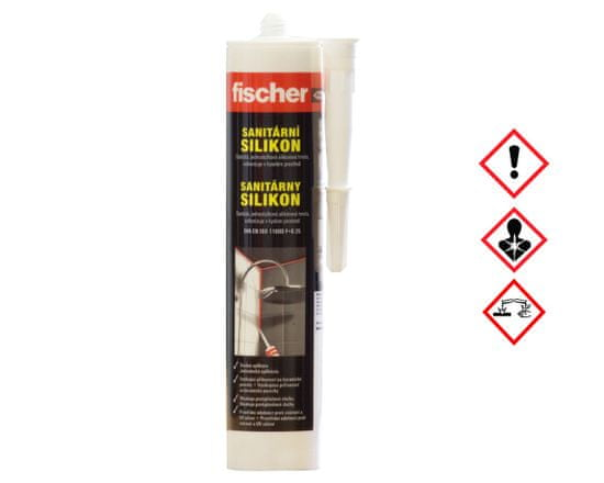 Fischer Silikon sanitární transparentní