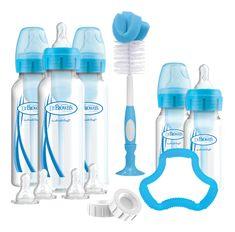 Dr.Brown´s Set 5 láhví Options+ úzké plast modrá - rozbaleno
