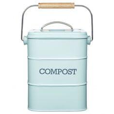 Kitchen Craft plechový kompostér Living Nostalgia, modrý
