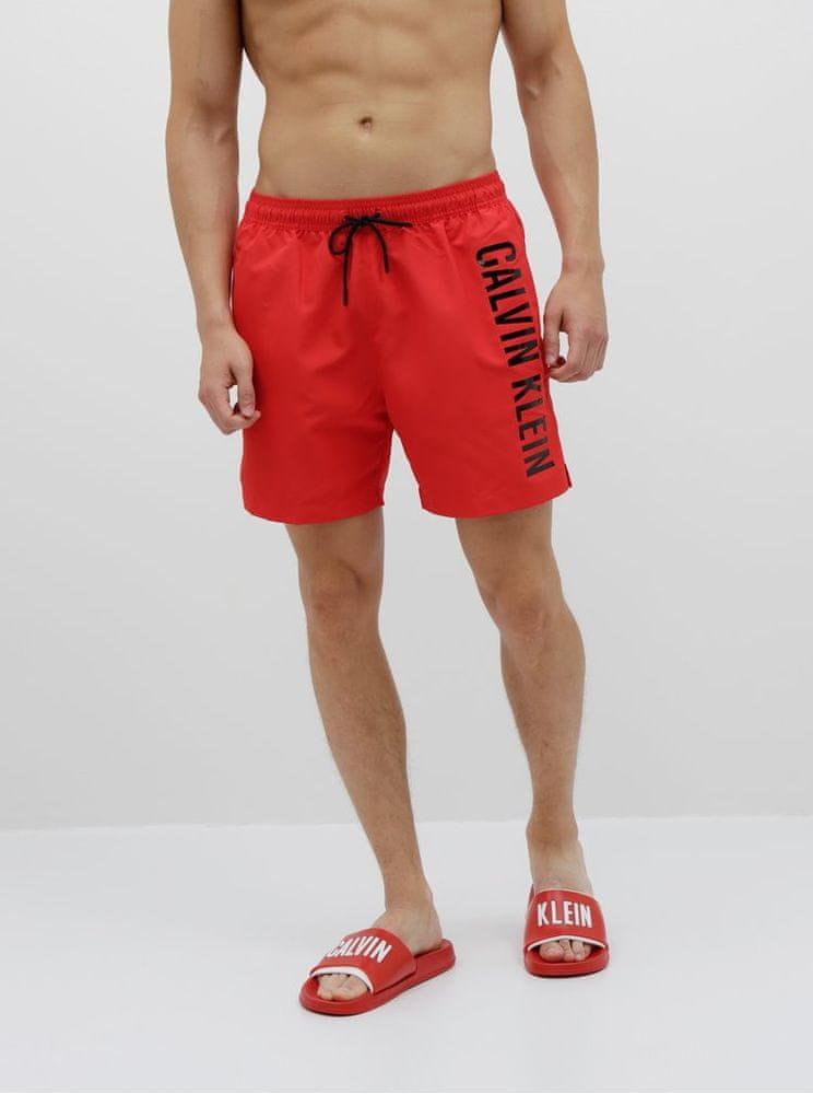 Calvin Klein und. červené pánské plavky XL