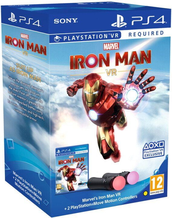 Sony Marvel's Iron Man VR + PlayStation Move Twin Pack (PS719369905)