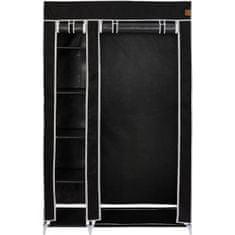 VonHaus garderobna omara, prenosna, tekstilna, črna (3008095)