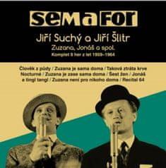 Jiří Suchý: Semafor Komplet 9 her z let 1959-1964 - Zuzana, Jonáš a spol., 15 CD