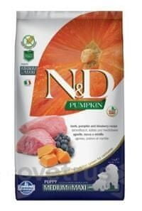 N&D Pumpkin DOG Puppy M/L Lamb & Blueberry 2,5 kg