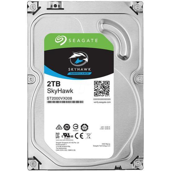 Seagate tvrdi disk SkyHawk 2TB 5900 64MB SATA 6Gb/s (ST2000VX008)