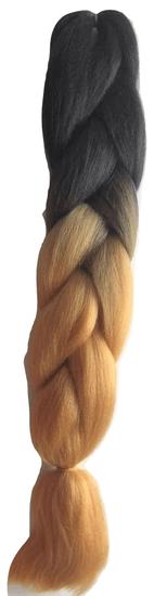 Vipbejba Lasni podaljški za pletenje kitk, B32 black & light brown