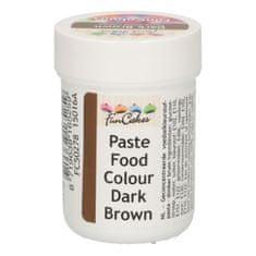 FunCakes Gelová barva tmavě hnědá 30g
