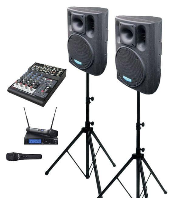 Dexon 2x BC 1000A + MBD 830 + MD 505 + DMC 2220 ozvučovací sestava s mikrofony